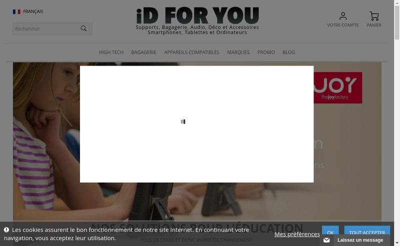 Capture d'écran du site de Id For You