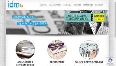 Site internet de Idm Solutions