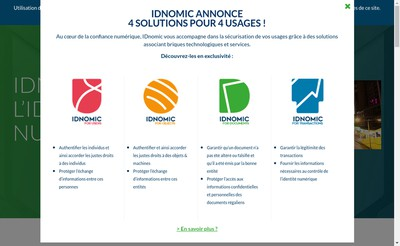 Site internet de Idnomic