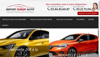 Site internet de Import Europ Auto