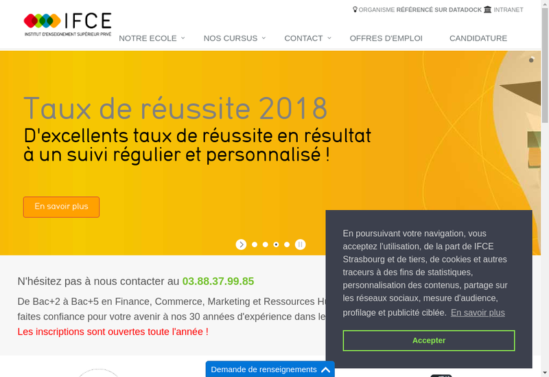 Capture d'écran du site de Ifce Institut Formation Comptable Euro