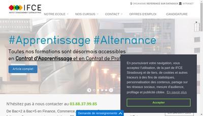 Site internet de Ifce Institut Formation Comptable Europe