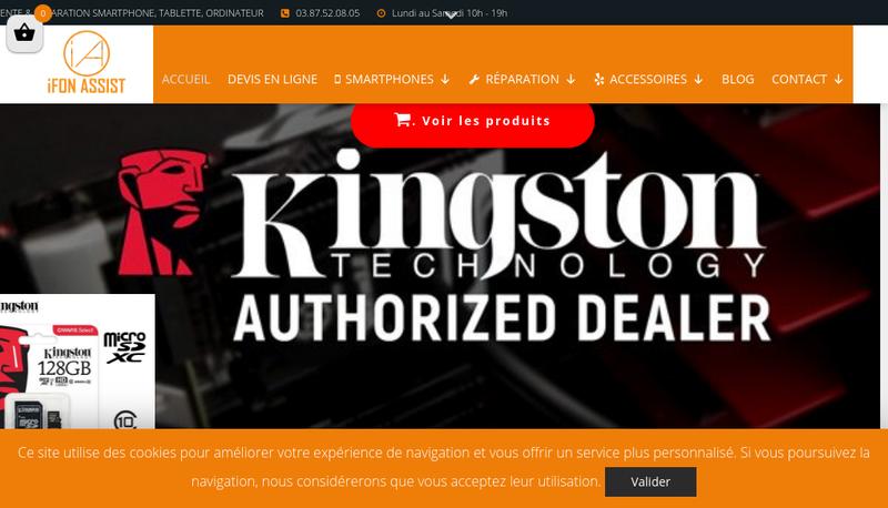 Capture d'écran du site de Ifon Assist