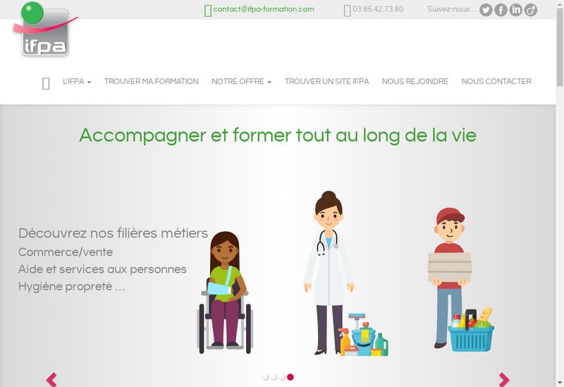 Capture d'écran du site de Instit Formation Promotion Adultes