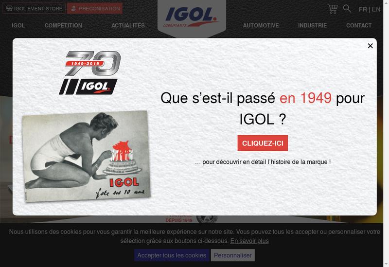 Capture d'écran du site de Igol Normandie