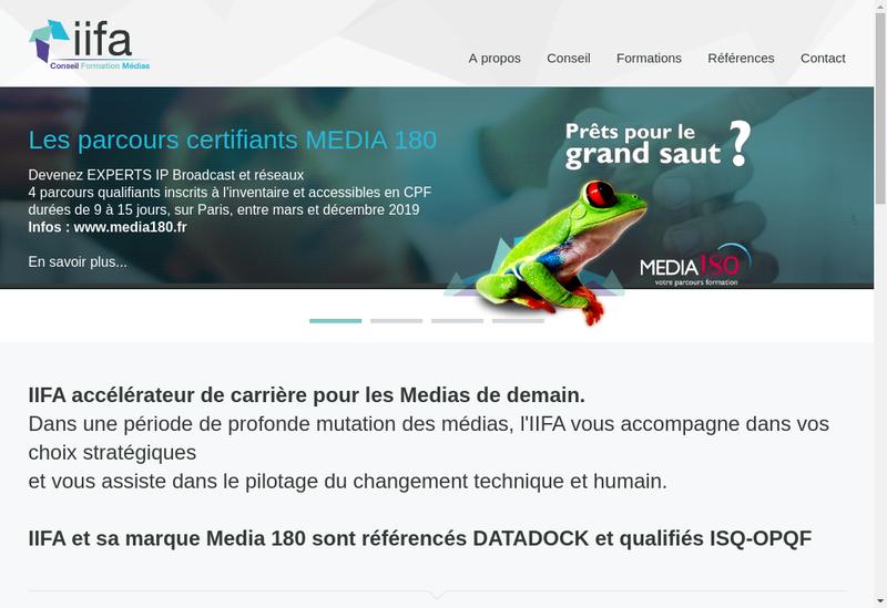 Capture d'écran du site de II Fa