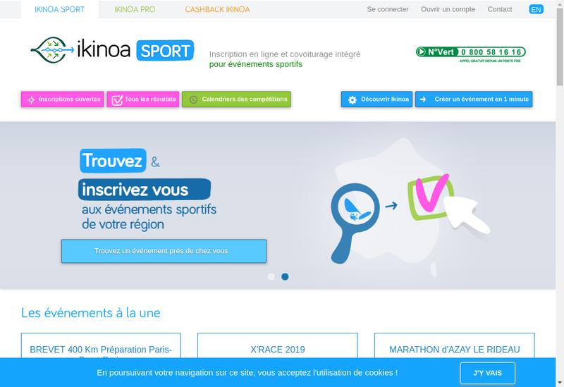 Capture d'écran du site de Ikinoa
