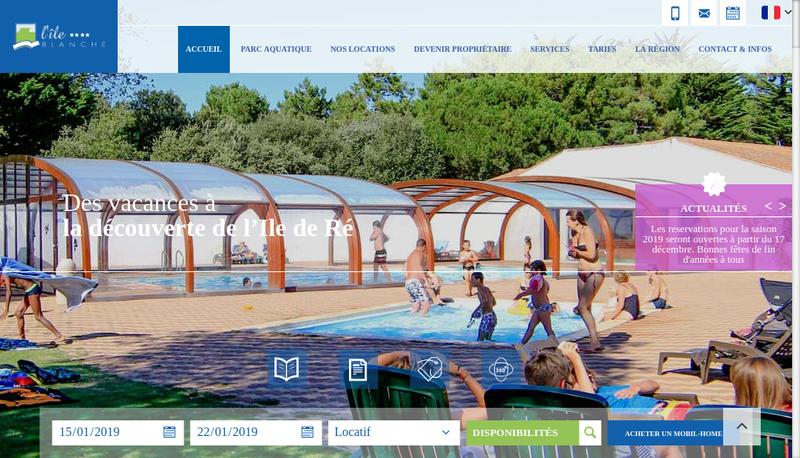 Capture d'écran du site de Ile Blanche