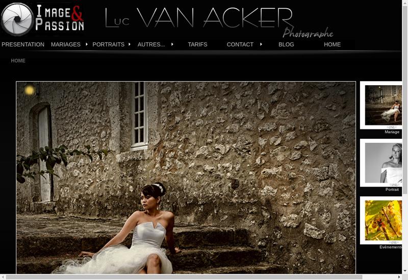 Capture d'écran du site de Image et Passion