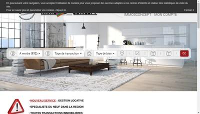 Site internet de Immo 3 Concept