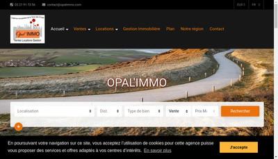 Site internet de Opal'Immo