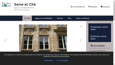 Site internet de Seine et Cite