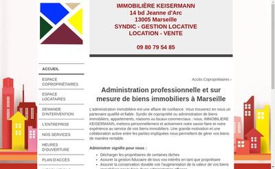 Site internet de Immobiliere Keisermann