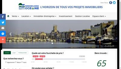 Site internet de Financiere et Immobiliere Oceane