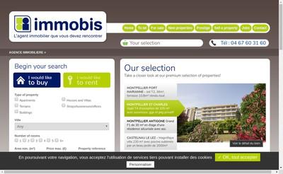 Site internet de Agence Immobis
