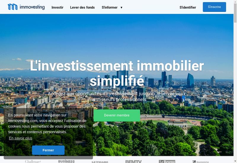 Capture d'écran du site de Vestago