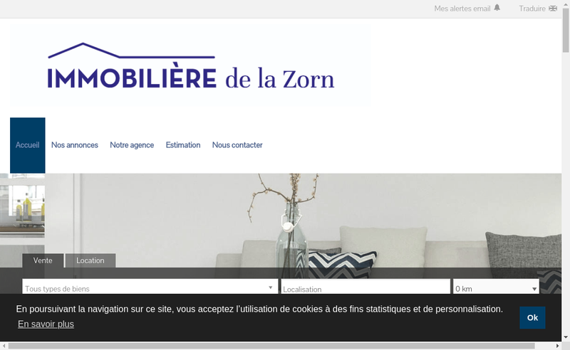 Capture d'écran du site de Prestige Immo 67
