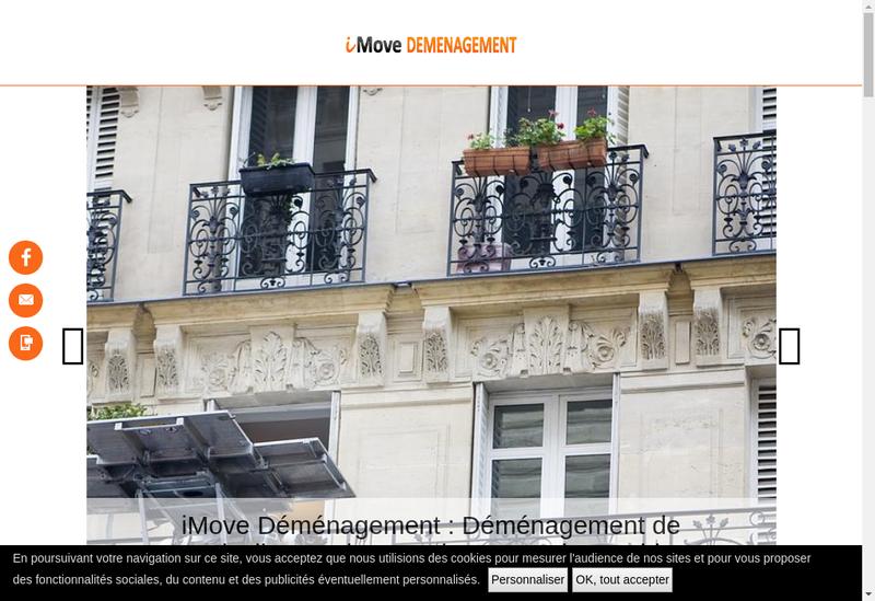 03c0bd20f54c4 Capture d'écran du site de Imove Demenagement