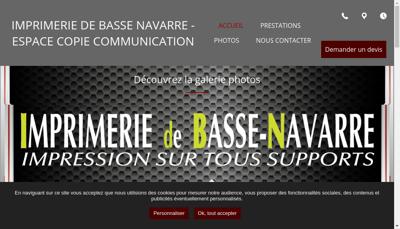 Capture d'écran du site de Imprimerie de la Basse Navarre