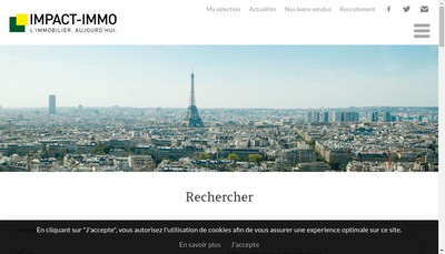 Site internet de Agence Impact Immo