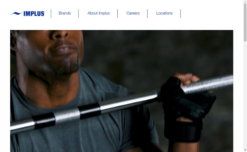 Capture d'écran du site de Implus Eu