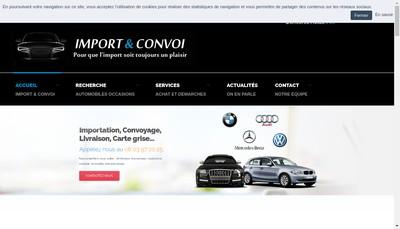 Site internet de Import et Convoi