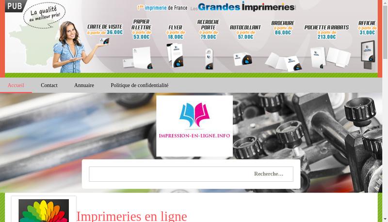 Capture d'écran du site de STIN Imprimerie