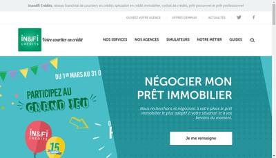 Site internet de In&Fi Credits