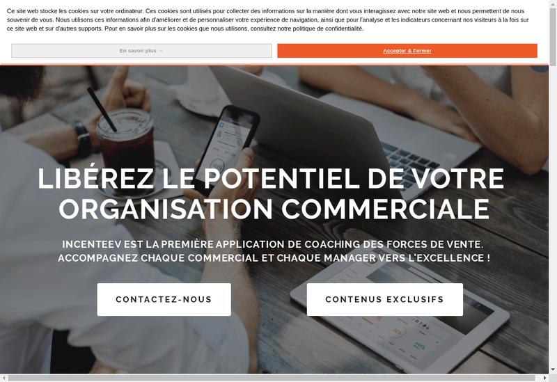 Capture d'écran du site de Incenteev