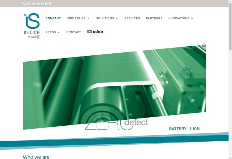 Capture d'écran du site de In Core Systemes