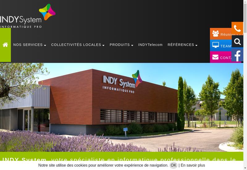 Capture d'écran du site de SARL Indy System
