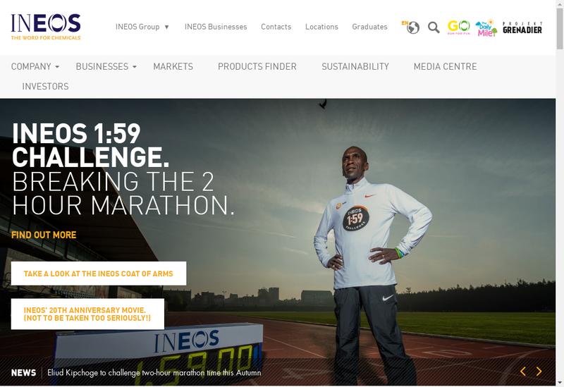 Capture d'écran du site de Ineos Technologies France SAS