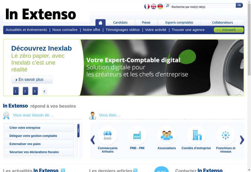 Capture d'écran du site de Kleber Audit-Cecos / In Extenso Haguenau
