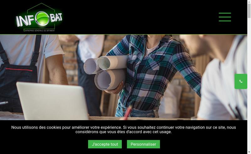 Capture d'écran du site de Infobat