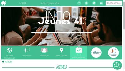 Site internet de Bureau Information Jeunesse Loir et Cher