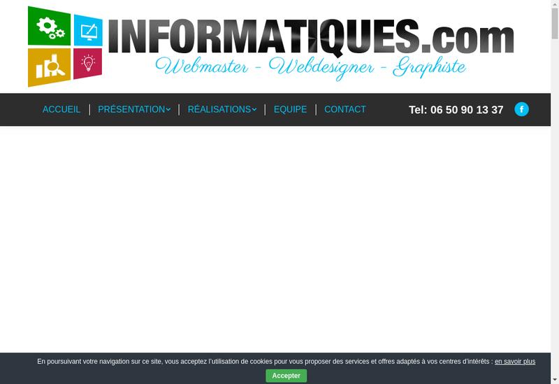 Capture d'écran du site de KJDN