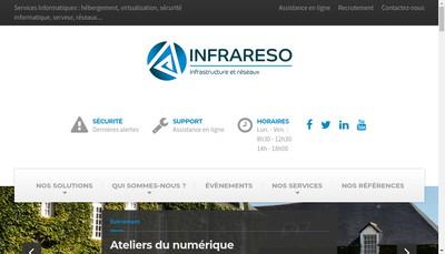 Site internet de Infrareso