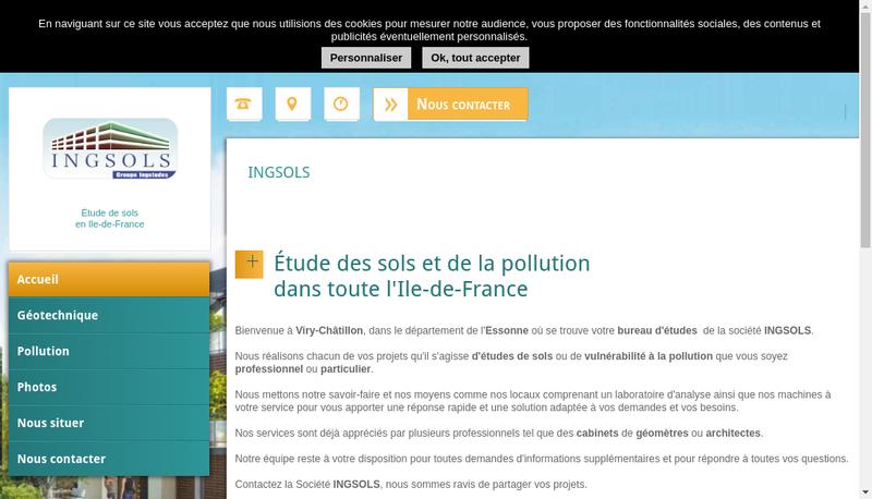 Capture d'écran du site de Ingsols