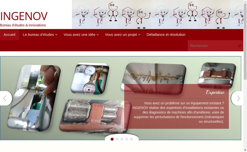Capture d'écran du site de Ingenov