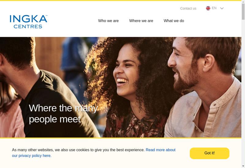 Capture d'écran du site de Ingka Centres Clermont SAS