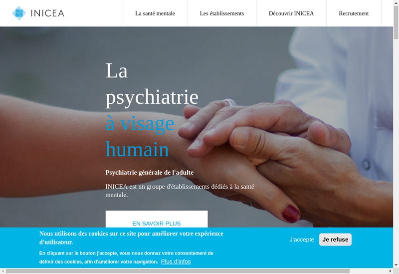 Capture d'écran du site de Clinique de Regennes