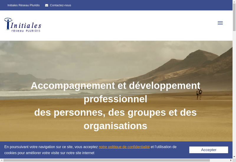 Capture d'écran du site de Initiales Reseau Pluridis