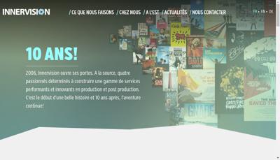 Capture d'écran du site de Innervision