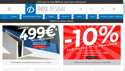 Site internet de Inox Design France