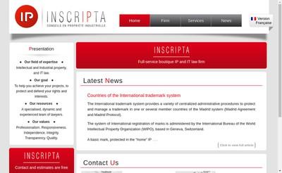 Site internet de Inscripta