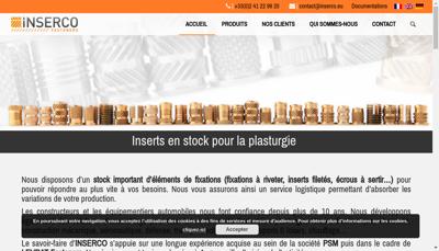 Capture d'écran du site de Inserco