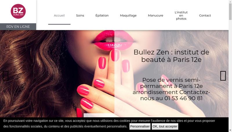 Capture d'écran du site de Bullez Zen