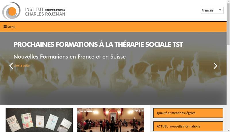 Capture d'écran du site de Institut Charles Rojzman