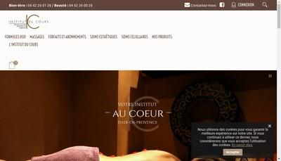 Site internet de Institut du Cours