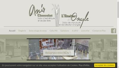 Site internet de Atelier de l'Ongle Anis et Chocolat